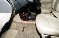 """Салон Nissan Terrano II c установленным противоугонным механическим комплексом """"Дракон"""""""